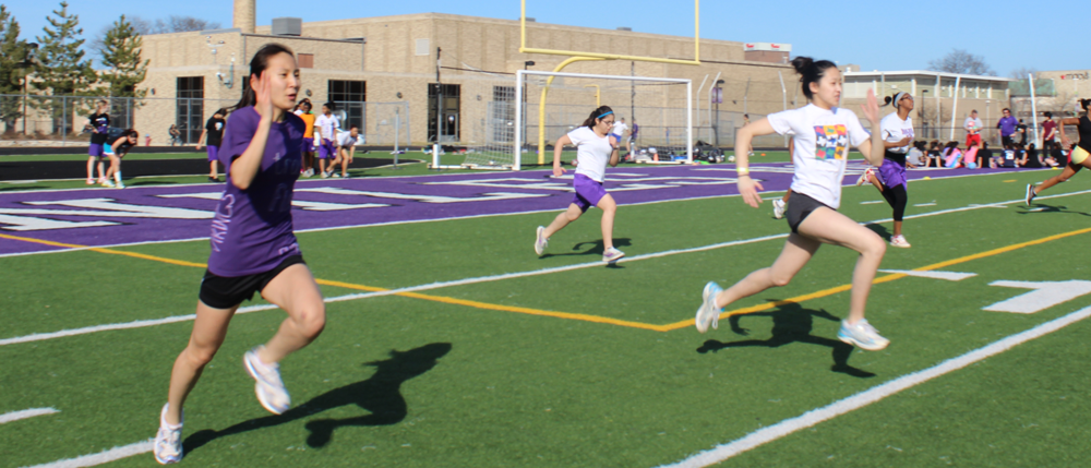 Girls track team sprints to early success
