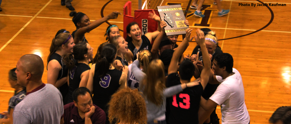 Viking girls volleyball team takes the regional title