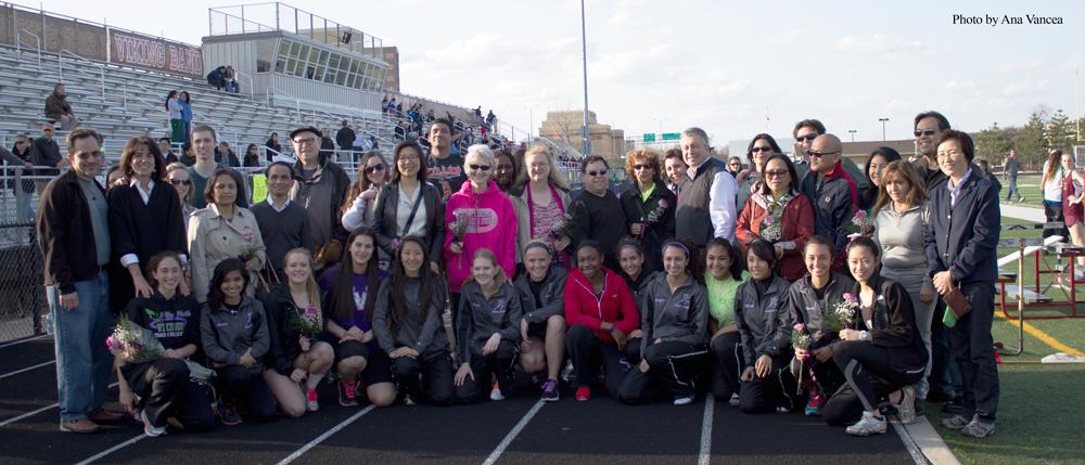 Girls track celebrates a tearful Senior Night, successful season