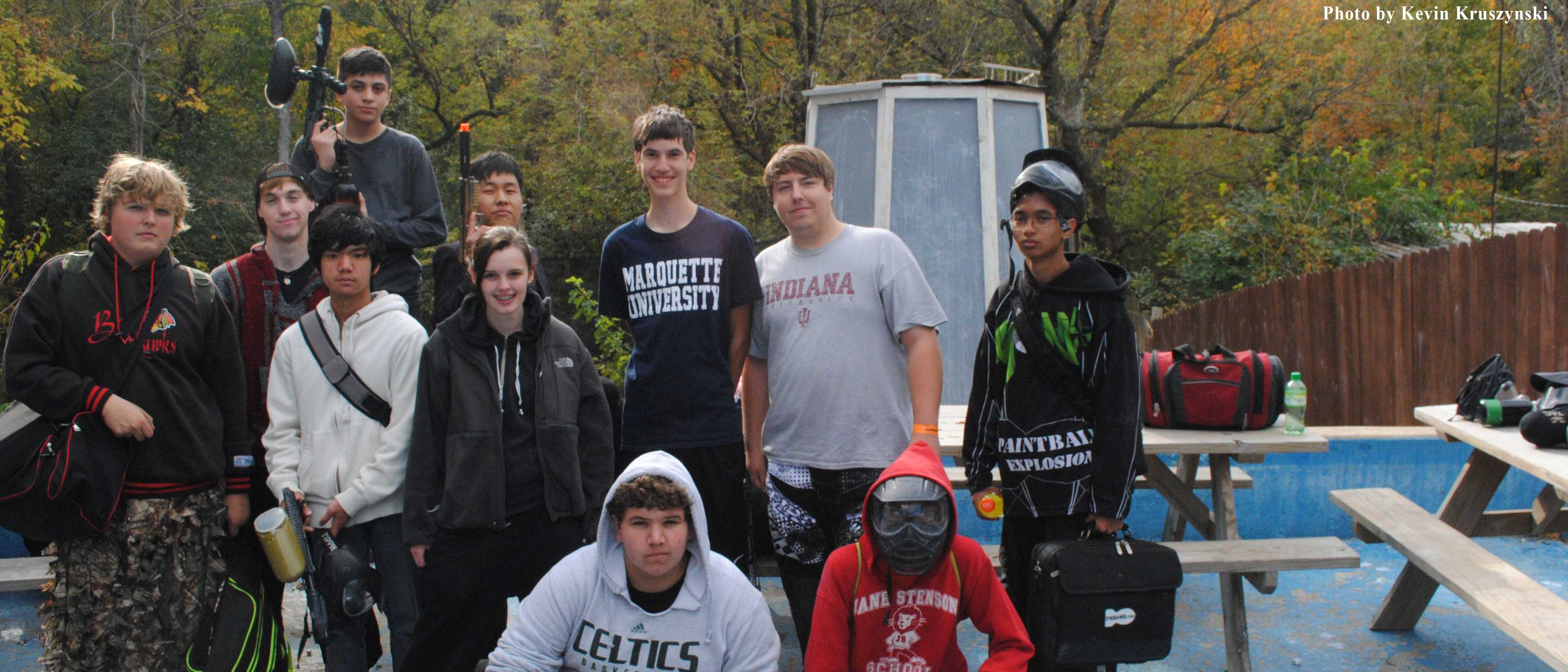 Paintball Club's first outing of the year