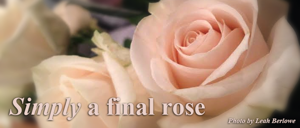 Simply a final rose
