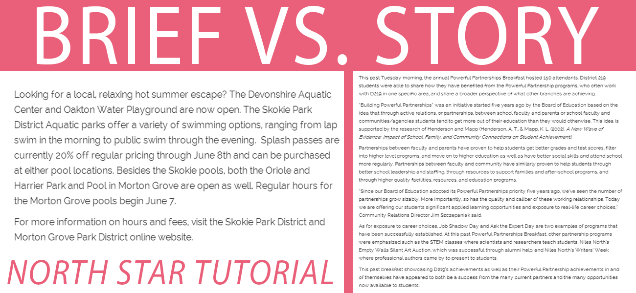 In-depth tutorial: Story vs. brief