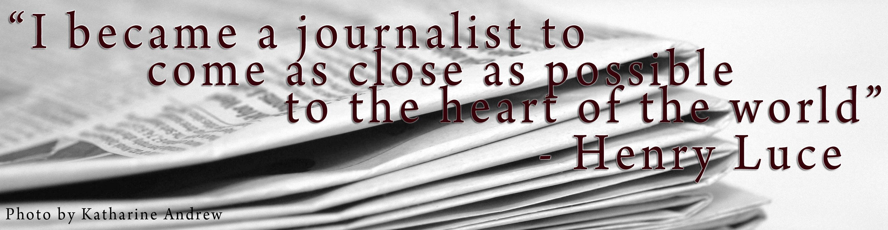 A young journalist reflects on the risks taken by professional news reporters