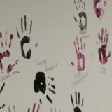 Senior hand print wall gallery