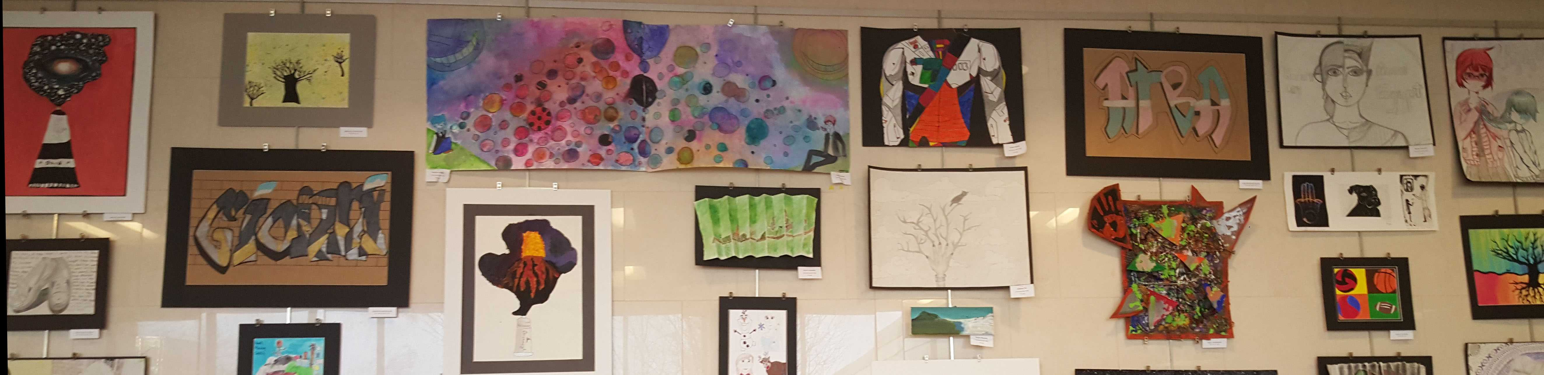 Junior high art show proves artistic futures
