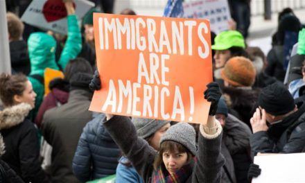 No hate, no fear, immigrants are welcome here
